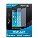 2 x SWIDO® Protector de pantalla Meizu MX6 Protectores de pantalla de película 'CrystalClear' invisible