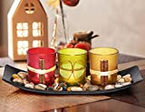 LETINE Cute Candle Holders Set Fit in LED Lights. Centerpieces for Coffee Table, Bathroom Decor. Decorations for Farmhouse & Modern Style Bed Room. Home Decor Clearance as Home Gift for Women, Men.