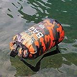 PVC Camuflaje Impermeable Mochila Portátil Deporte al aire libre Rafting Bolsa Rafting Río Tracing Natación Bucket Bolsa Seca 5L 10L 15L 20L, tamaño 10 L
