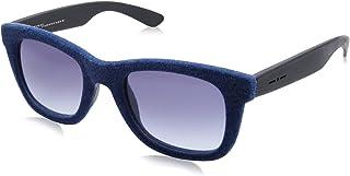 نظارة شمس بعدسات شبه مربعة ازرق وشنبر قطيفة للنساء من ايطاليا انديبندنت - كحلي