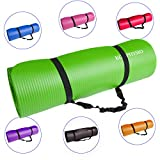 KG Physio Yoga Mat or Exercise Mat with Bonus Strap Included. 183cm x