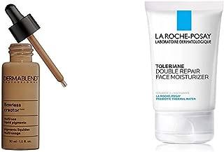 Dermablend Flawless Creator Multi-Use Liquid Foundation, 60N + La Roche-Posay Toleriane Double Repair Face Moisturizer