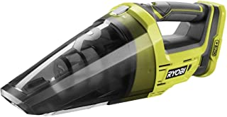 Ryobi R18HV-0 One+ 18V Lithium Ion Battery Powered Cordless Dry Debris Hand Vacuum with Crevice Tool (Batteries Not Includ...