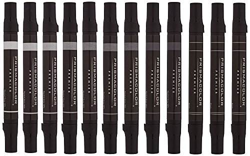 Prismacolor Marker Sets neutral grey set set of 12 by Prismacolor
