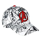 Cerdá 2200005320 Gorra Premium Avengers, Blanco, Negro, Único Unisex niños