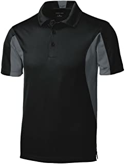 Joe's USA Men's Moisture Wicking Side Blocked Micropique Polo's- Regular, Big & Tall Sizes