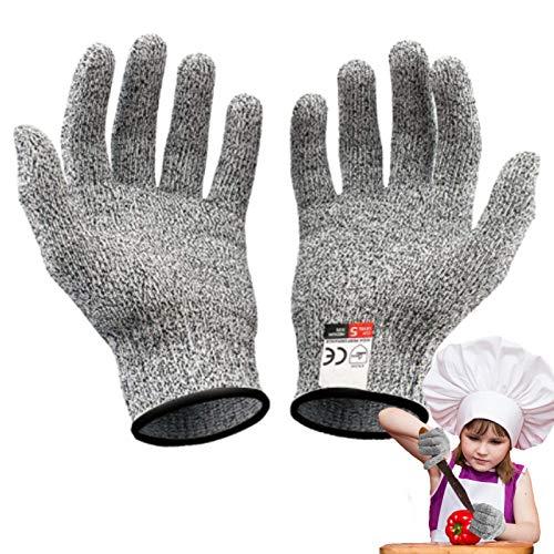 Schnittfeste Handschuhe, Schnittschutzhandschuh für Kinder, Leistungsfähiger Level 5 Schutz, Lebensmittelkontaktqualität, Garten, Beruf (XXS(5-8 Jährige))