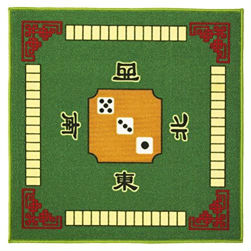 Exceart Mahjong Tafelkleed Vierkant Tafelkleed Board Pad Antislip Tafelmat Universeel Voor Paigow Poker Dominos Kaartspel Speelgoed (780 × 780Mm Groen)