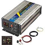 SAYA 正弦波インバーター 2000W 24V 100V 瞬間最大4000W インバーター DC→AC 変換器 50Hz/60Hz 車から家庭用電源 非常電源・補助電源に