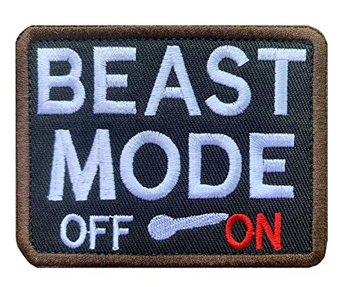 Antrix Beast Mode On Military Badge Emblem Patch Tactical Funny Hook and Loop Patches-3.5x2.75