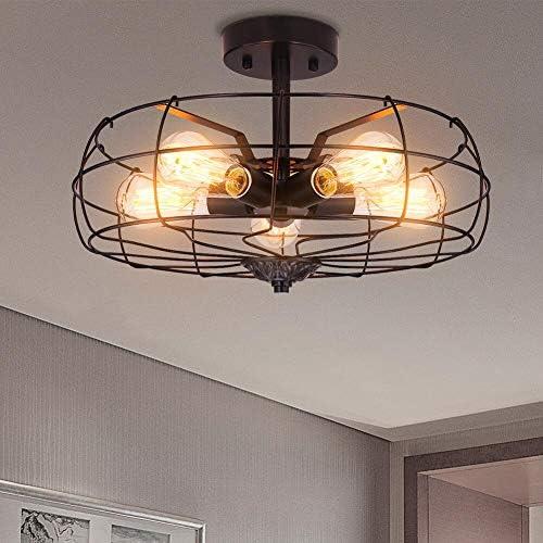 Ceiling Light Fixture Industrial Flush Mount Light Fixtures Farmhouse Lighting Vinatge Pendant product image