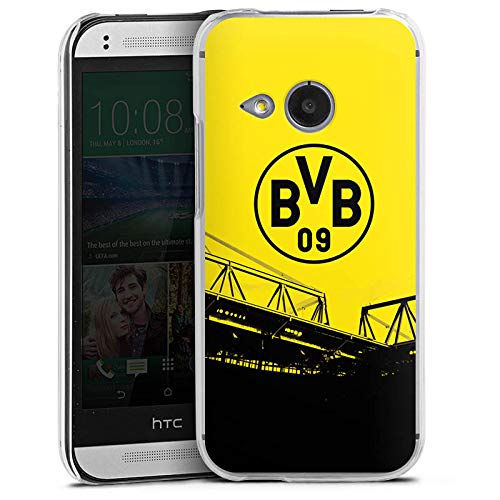 DeinDesign Hard Case kompatibel mit HTC One Mini 2 Schutzhülle transparent Smartphone Backcover Borussia Dortmund BVB Fanartikel