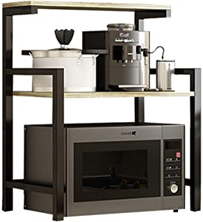 NgMik Four Micro-Ondes Rack d'armoires de Cuisine étagèr Durable 3 Tier Rack Micro-Ondes Support De Rangement en Bois avec...