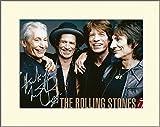 Charlie watts The Rolling Stones Imprimé Signé photo dédicacée avec passe-partout