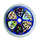 Cute Guitar Picks for Kids Boys and Girls - Medium Gauge Size - Celluloid - 12-pack Assorted Variety Collection Set - Unique children cartoon designs Music Gifts