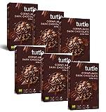 Copos de maíz orgánicos sin gluten de Turtle Cereals cubiertos con chocolate amargo - 6 x 250 gramos