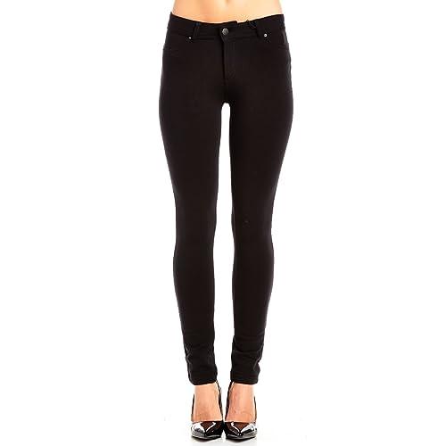3dacb3792105d3 La Bijou Womens LABIJOU French Terry Basic Jegging Skinny Pants 511S