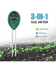 مقياس الأس الهيدروجيني للتربة 3 في 1 من إيمولي، طقم اختبار الضوء ودرجة الحموضة للنباتات والخضروات والحدائق والمزرعة والمرج للاستخدام الداخلي والخارجي (لا حاجة إلى بطارية)