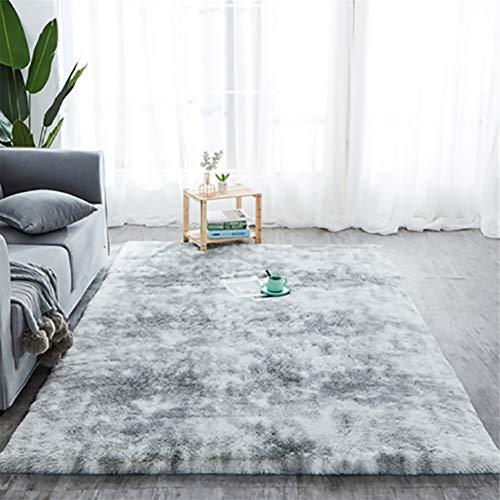 Muchas Salon alfombras de habitacion 150x200cm, Alfombra Dormitorio, Súper Grueso Antideslizante, Adecuado para salón Dormitorio baño sofá Silla cojín/Gris