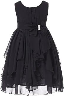 5fe610fb1051 Bow Dream Flower Girl Dress Ruffled Chiffon