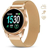 Gokoo Women Fitness Tracker with Heart Rate Blood Oxygen Monitor