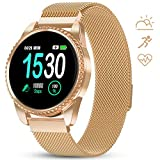 GOKOO Smart Watch for Women Fitness Tracker with Heart Rate Blood Oxygen Monitor Pedometer Calories Sport SmartWatch Bluetooth Compatible with Android iOS
