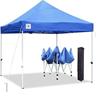 ALLINBOOST 10x10 Pop Up Outdoor Canopy Tent, Beach Canopy Sun Shelter, Commercial Instant Grill Gazebo with Wheeled Carry Bag for Food Vendors, Farmers Market and Backyard Events