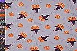 Stoffbook Mehrfarbig Fledermaus Baumwollstoff Bedruckt