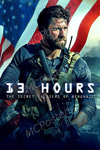 MCPosters - 13 Hours The Secret Soldier of Benghazi Glossy Finish Movie Poster - MCP709 (24' x 36' (61cm x 91.5cm))