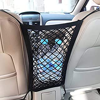 MICTUNING Universal Car Seat Storage Mesh/Organizer - Mesh Cargo Net Hook Pouch Holder for Bag Luggage Pets Children Kids ...