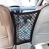 MICTUNING Universal Car Seat Storage Mesh/Organizer - Mesh Cargo Net Hook Pouch Holder for Bag Luggage Pets Children Kids Disturb Stopper