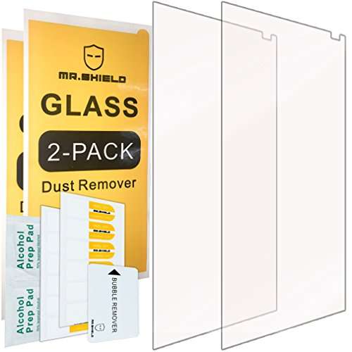 [2-Pack]-Mr.Shield for ZTE Axon 7 [Tempered Glass] Screen Protector with Lifetime Replacement