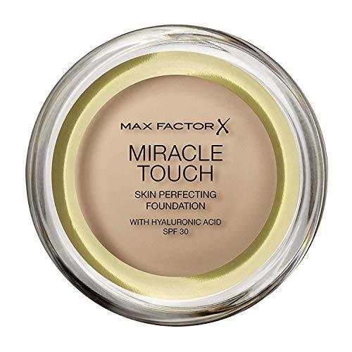 Max Factor Miracle Touch, Fondotinta Coprente con Acido Ialuronico, 075 Golden, 12 ml