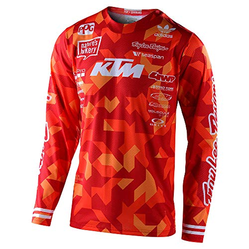 Troy Lee Designs Mens | Offroad | Motocross | GP Air Confetti Team Jersey (Orange, XX-Large)