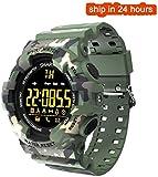 Reloj deportivo de los deportes del reloj inteligente inteligente reloj despertador Cronómetro camuflaje for aplicaciones en exterior pulsera inteligente manera ocasional Bluetooth SmartWatch (color: