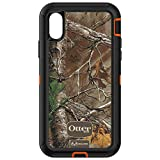 OtterBox Defender Series Case for iPhone X & iPhone Xs (ONLY), Case Only - Bulk Packaging - (Blaze Orange/Black W/Realtree Xtra CAMO)