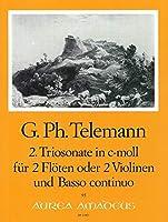 TELEMANN - Trio Sonata en Do menor (TWV:42/c 1) para 2 Flautas (2 Violines) y Piano (Pauler/Hess)