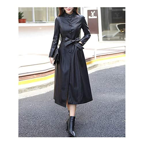 e00923dcec4dd Pragmaticv Fashion X-Long Single Breasted Autumn Female Leather Jacket  Winter Plus Size Faux Leather