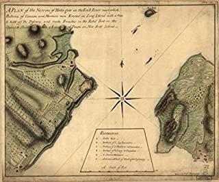 1776 Map| Map of The Narrows of Hells-gate in The East River, Near which Batteries of canno