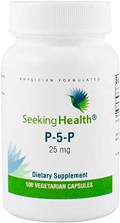 Seeking Health   P-5-P (pyridoxal 5'-Phosphate)   25 mg Active Vitamin B6 Supplement   100 Vegetarian Capsules
