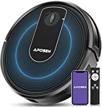 APOSEN Robot Vacuum, Wi-Fi Connectivity, Super-Thin, Quiet, Self-Charging, 2000Pa Powerful Suction, Works with Alexa, Clea...