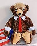 CONCEN 62センチメートルドナルド・トランプベアぬいぐるみアニマルクマの人形USA社長ベアぬいぐるみアメリカ国旗クマの人形のおもちゃの子ラブリーギフト (Color : Donald Trump Bear, Height : 62cm)