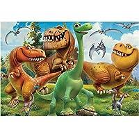 漫画の恐竜-大人のためのジグソーパズル、1000ピース、環境にやさしい木製パズル、大人のための1000ピースのジグソーパズル教育玩具男の子ギフト
