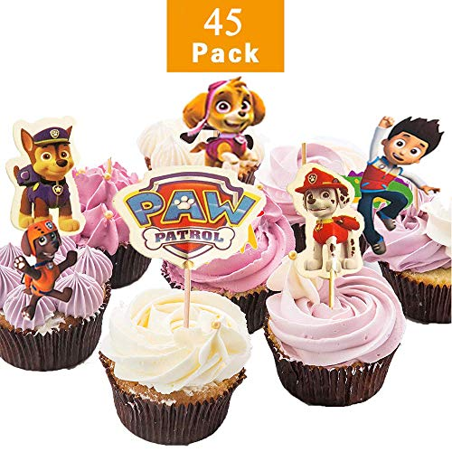 LIZHIGE 45 Stück Zoo Tier Cupcake Toppers für Kinder Baby Party Geburtstag Party Kuchen Dekoration Supplies Löwe Nilpferd AFFE Elefant Zebra Giraffe Krokodil