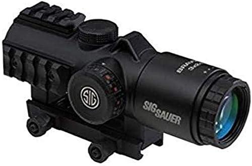 Sig Sauer Bravo3 Battle Sight, 3X24mm, 556-762 Horseshoe DOT Illum Reticle, 0.5 Moa, M1913, Black