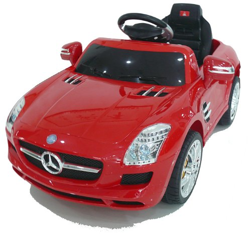 RC Auto kaufen Kinderauto Bild 2: crooza *2X Motoren* Soft-Start Original Mercedes-Benz AMG SLS Lizenz Kinderauto Kinderfahrzeug (ROT)*