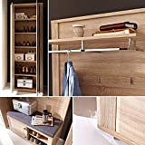 GO Garderoben Set in heller Sonoma Eiche Optik - moderne Softclose Flurgarderobe für Ihren Eingangsbereich - 268 x 200 x 40cm (B/H/T) - 5
