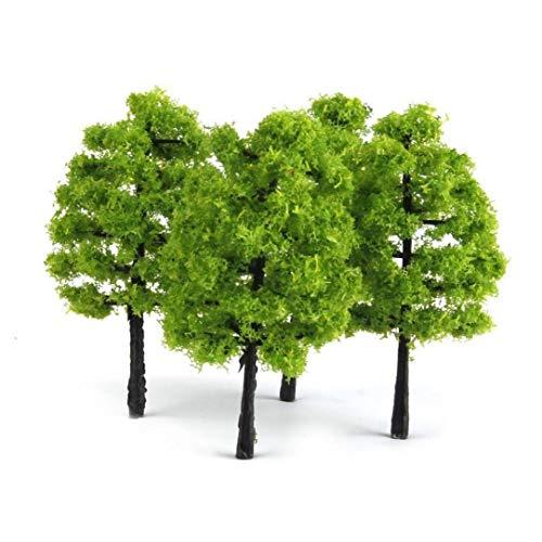 20 Piezas modelo de árboles de mezclado del paisaje del árbol del modelo de tren de ferrocarril de árboles diorama Árbol Arquitectura Los árboles de paisaje del paisaje DIY