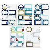 Hallmark Tree of Life Gift Tag Stickers (80 Labels; Blue and Gold) for Hanukkah, Bat Mitzvah, Bar Mitzvah, Jewish Holidays