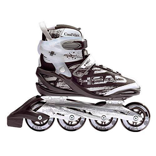 HEAD Fitness Inline Skate Raptor SR - Größe 45, 90mm - 82A Sport Straßen Inliner, ABEC 7 Bearing, Softboot, Rollschuhe in Damen und Herrengrößen